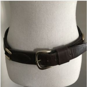 Givenchy Womens Leather Belt Cowhide Vintage